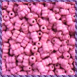 """100 Wood Beads Tube """" Many Available Colors """""""
