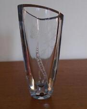 STROMBERGSHYTTAN ART GLASS VASE SWEDEN TWO ENGRAVING TECHNIQUES B581 C1216