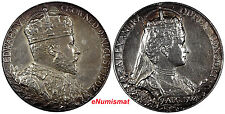 Great Britain.Coronation Silver Medal,1902 Edward VII & Alexandra by G.W.Saules