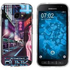Case für Samsung Galaxy Xcover 4 Silikon-Hülle Retro Wave Cyberpunk.01 M4 Case