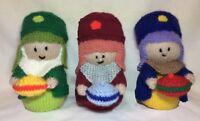 KNITTING PATTERN - We Three Kings orange cover / 16 cms Christmas Nativity toy
