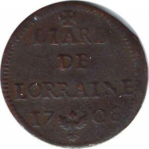 LEOPOLD 1er (1690-1729) LIARD DE LORRAINE 1708 TB+