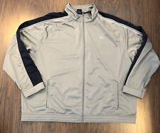 Starter Jacket Size 3XL Lightweight Zippered Gray And Navy Blue