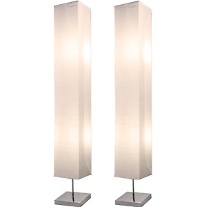 Light Accents Honors Floor Lamp - Japanese Style Standing 50 Inches Tall Chrome