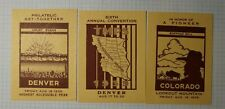 Tmps Convention Denver Co 1939 Buffalo Bill Philatelic Souvenir Ad Label