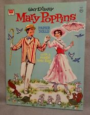 MARY POPPINS 1973 DISNEY Paper Doll Book with JULIE ANDREWS - UNCUT ORIGINAL