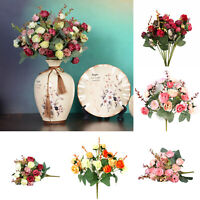 2 Bouquets 42 Head Artifical Rose Silk Flower Bouquet Home Wedding Decor Hot