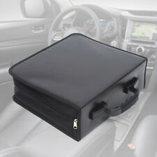 More details for black 400 disc cd dvd storage bag portable wallet storage organizer box case bag