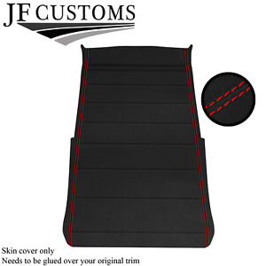 RED STITCH LUXE SUEDE ROOF HEADLINING COVER FOR VW GOLF MK2 83-92 3 DOOR