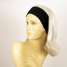 turban chimio avec bandeau elastique cheveux blanc ref xena en 60
