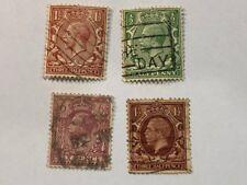 Vintage Old Great Britain King George England UK Postage Revenue Stamp Lot EEE