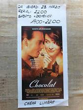 Locandina Chocolat - diLasse Hallström, con Juliette Binoche e Johnny Depp