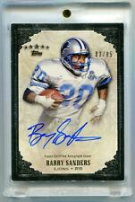 BARRY SANDERS 2012 Topps Five Star Signatures Auto Autograph Card HOF SP AU 3/85
