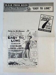 MGM Press Book 1953 EASY TO LOVE Esther Williams Tony Martin Van Johnson