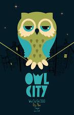 Owl City * Original Concert Poster 11x17 rare 2010 tour * Ocean Eyes All Things