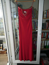 red strapless ballgown/bridesmaid/prom dress size 14 brithday Christmas present