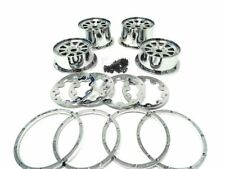 Rovan Buggy Chrome Plated Plastic Rims Set Upgrade Part for HPI Baja 5B,KM Buggy