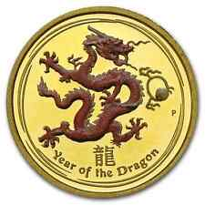 RARE ! ~ 2012 ~ PROOF 1/10 GOLD DRAGON ~ ONLY 5000 MINTED ! ~COA & BOX ~ $288.88