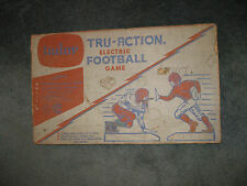 Vintage 1950's Tudor Tru-Action Pro Electric Football Game In Box Rare Excellent