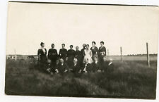 Real Photo Postcard - Group of People in Field - WAKELEY Family Grma' Bro & Sis