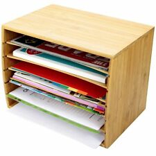 Desktop File Sorter a4 document exigeant Storage, Made Of Bamboo