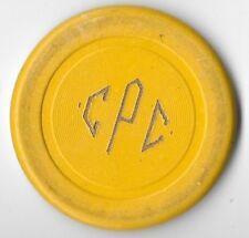 Culver Press Club Illegal Casino/ Poker Chip Yellow Cincinnati Ohio 1916