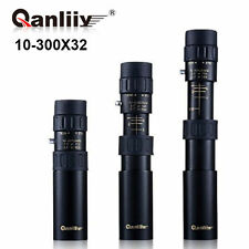 New QANLIIY 10-300x32 Travel HD Lens Night Vision Monocular Telescope + Tripod