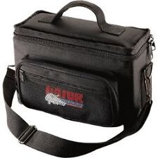 Gator Cases GM4 Padded Bag for Up to 4 Mics w/ Exterior Pockets fo