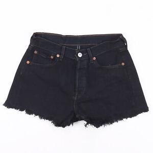 Vintage LEVI'S 501 Black Regular Cut-Off Denim Shorts Womens S W27