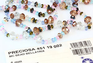 Genuine PRECIOSA Czech Crystal Bellatrix Rondelle Faceted Beads * Many Colors