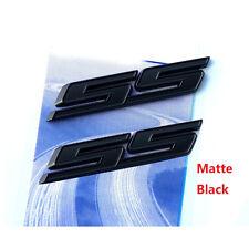 2x OEM SS Emblems Badge 3D For Camaro Chevy series L Matte Black All