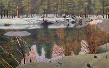 "Gordon Mortensen ""April in Tahoe"" Signed & Numbered Fine Art Woodcut MAKE OFFER!"