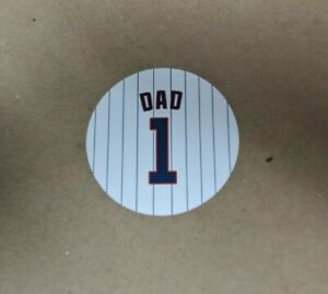 Fridge Magnet Father's Day for Baseball Dad Chicago Cubs Jersey Design - 4 inch