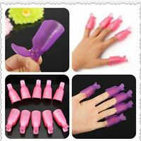 10pcs Smart Polish Acrylic Wrap Remover Soak Off UV Gel Nail Art Clip Tool Cap