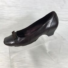 Indigo By Clarks Women's Pumps Burgundy Leather Size 8.5 M