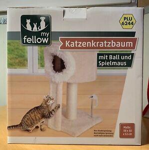 Katzenkratzbaum Katzenhöhle Kratzbaum Katzenbett  Kätzchen Babykatzen beige