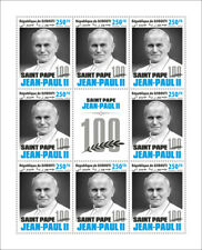 More details for djibouti famous people stamps 2020 mnh pope john paul ii popes 8v m/s