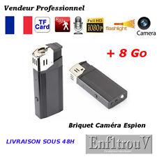 BRIQUET CAMÉRA CACHEE ESPION FULL HD 1080P + 8Go