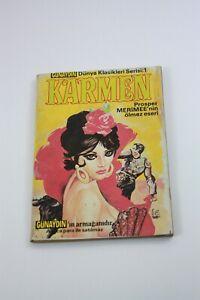 CARMEN - Turkish Comic Book - 1970s - VERY RARE - Prosper Merimee