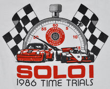 Vintage 80s 1986 San Francisco Sports Car Club Of America Time Trials T Shirt