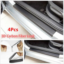 4x Car SUV Door Sill Scuff Welcome Pedal Threshold Carbon Fiber Protect Stickers