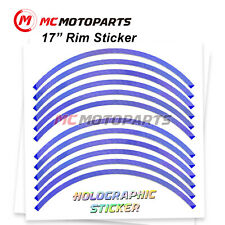 17'' Rim Rainbow Holographic Wheel Sticker For Ducati 1299 959 Panigale 1199(Fits: Ducati GT)