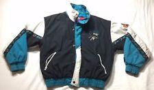 VTG 90s Retro Pro Player San Jose Sharks Jacket Full Zip Sewn & Stitched -Medium