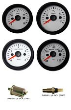 Gauges Oil Pressure Temperature Volt Fuel 2 Electric With Oiltemp Sensor