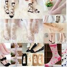 Womens Lady Silk Sheer Ultrathin Ankle Low Cut Socks Cotton Elastic Lace Hosiery