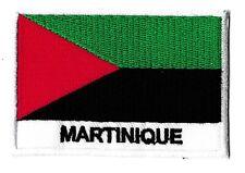 Patche Martinique libre écusson patche drapeau Caraïbes 70x45 mm à coudre