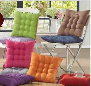 Brush Microfiber Dining Office Chair Cushion Pad Protector 17x17 inch More Color
