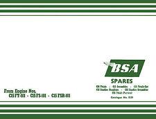 BSA Spares Book 1965-onwards C15Trials C15 Scrambles c15 starfire Roadster book
