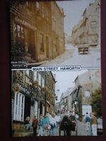 POSTCARD YORKSHIRE HAWORTH - MAIN STREET - THEN & NOW