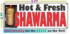 Full Color SHAWARMA BANNER Sign NEW Larger Size Best Quality for the $$$